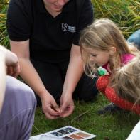 Victoria demonstrating the Earthworm Watch survey